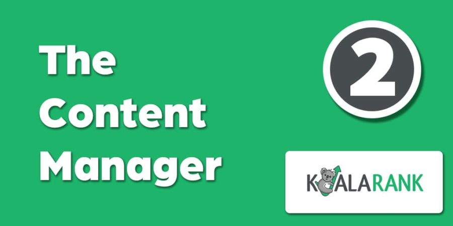 the content manager