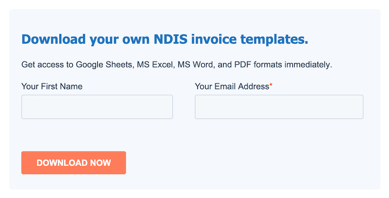 content upgrade box to download ndis invoice templates