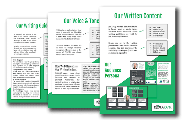 creating writing guidelines is essential for your content strategy