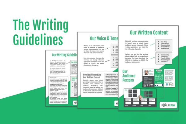 sleek view of writing guidelines template