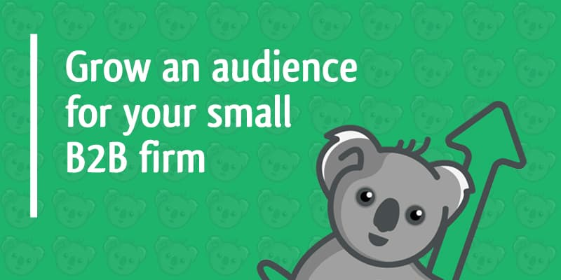 grow an audience for your small b2b firm