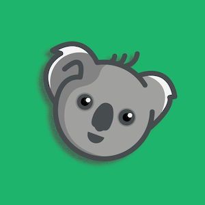 koala rank mascot head icon