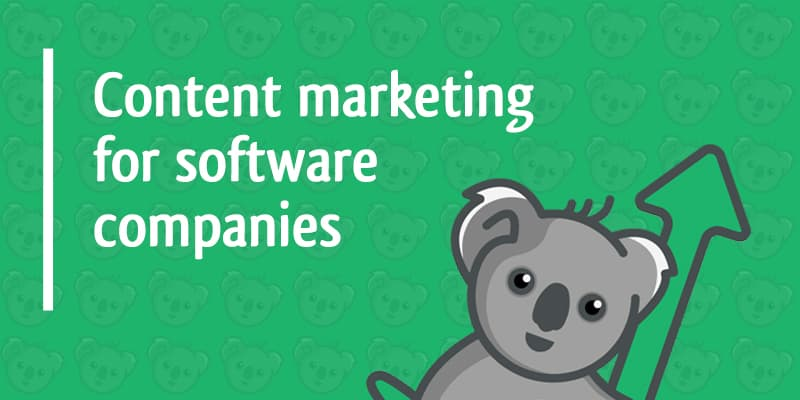 content marketing for software companies