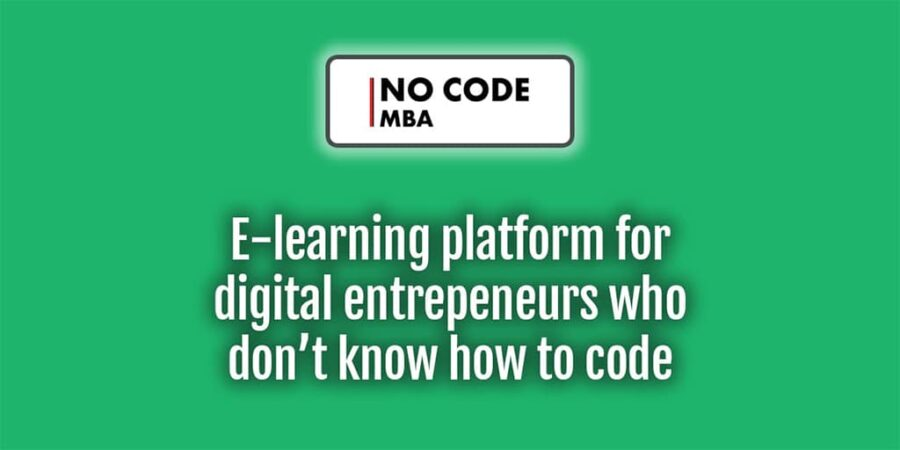 no code mba partnership announcement