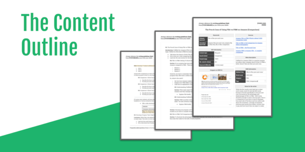 free content outline template