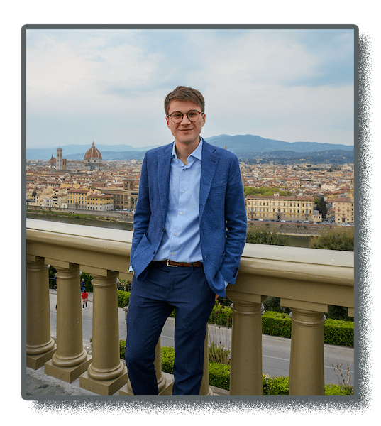 image of Koala Rank founder Arrigo Lupori in Florence, Italy