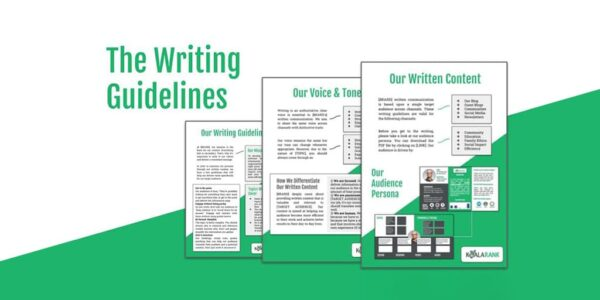 writing guidelines sample template
