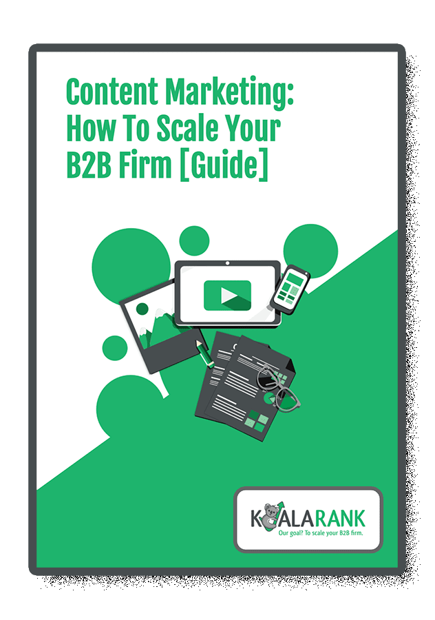 cover of content marketing scale your b2b firm guide