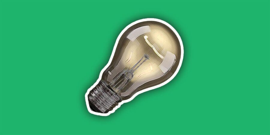 light bulb for how to generate content ideas